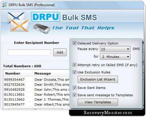 Download GSM Bulk SMS Software send job alert