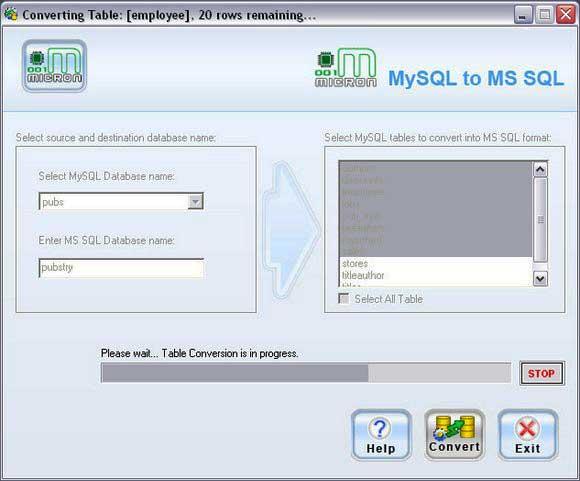 Для MySQL MSSQL Конверсии Инструмент
